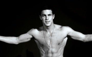 model, torso, mario casas, actor.
