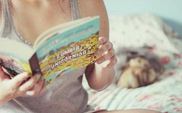 девушка, зомби, настроения, руки, книга, книжка