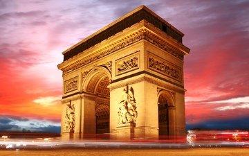 париж, триумфальная арка, франция, франци, триумфальная арка в париже