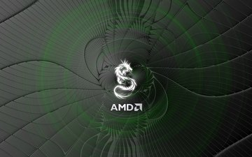 логотип, компьютер, amd