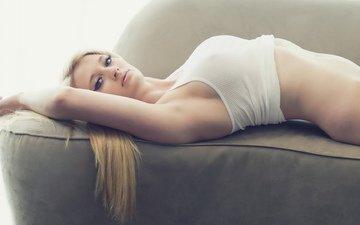 джинсы, девочки, фигура, футболка, тело, блонд, женщин, сексуальные девушки