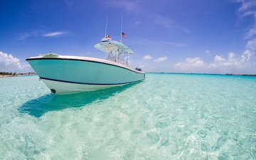 вода, океан, яхта, курорт, катер, чистая