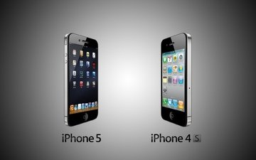 телефон, техника, гаджет, айфон, iphone 5 vs iphone 4s, эппл