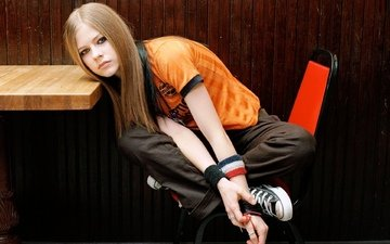 девушка, фото, певица, аврил лавин