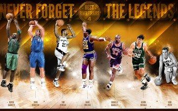 sport, legends, basketball, dirk nowitzki, tim duncan, kevin garnett, nba