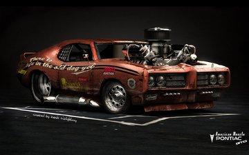 автомобиль, хот род, pontiac gto, american muscle