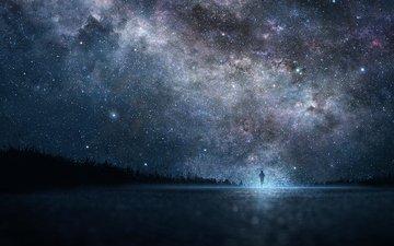 the sky, space, stars, beauty