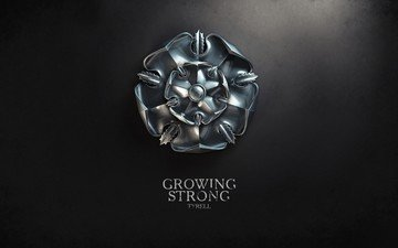 flower, coat of arms, game of thrones, heraldry, series, tyrell
