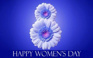 цветы, надпись, 8 марта, международный женский день