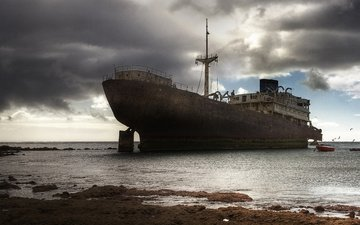 вода, корабль, океан, крушение, судно, бедствие