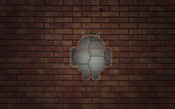 стена, кирпич, андроид