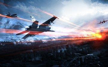 the plane, battle