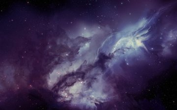 lights, space, stars, nebula, matter