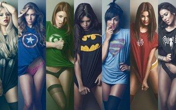 герой, бетмен, супермен, железный человек, тор, бэтмен, богатырь, зелёный фонарь, маечка, женщин, dc футболке, капитан америка, upscaled