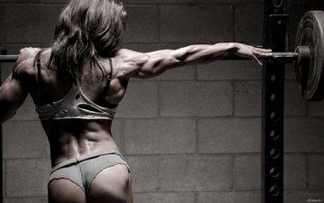 girl, bodybuilding