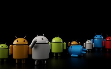 green, blue, robot, grey, os, android wallpaper, android pictures, os photo