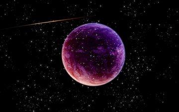 space, planet, meteorite