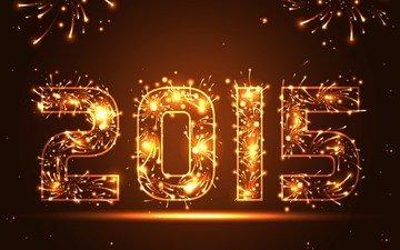 новый год, салют, встреча нового года, золотая, 2015 год, довольная, феерверк, сверкание