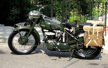 мотоцикл, британский, ww2, военная полиция, triumph 3hw