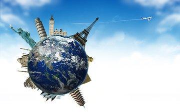 небо, земля, самолет, планета, англия, шар, путешествия, франция, испания, туризм, самолетик
