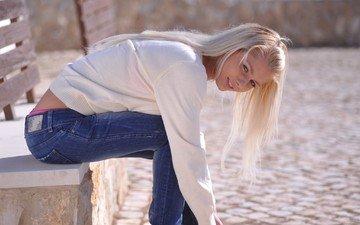 джинс, annely gerritsen., секси девушка