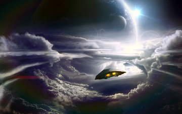 planet, ship
