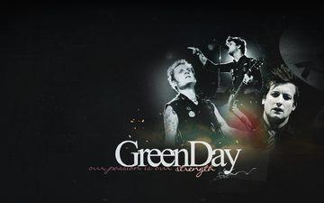 группа, буквы, концерт, лица, green day