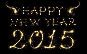 новый год, встреча нового года, золотая, 2015 год, бенгальские огни, довольная