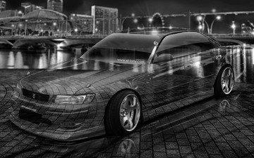 города, автомобиль, кристал, тюнинг, jzx90, jdm, 2015 год, toyota mark2