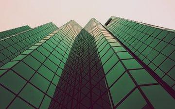 небоскребы, дома, стекло, высотки