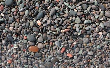 камни, берег, море, каменное