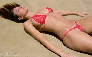 girl, sea, beach, bikini, microminimus, wicked weasel bikinis, bikini desktop