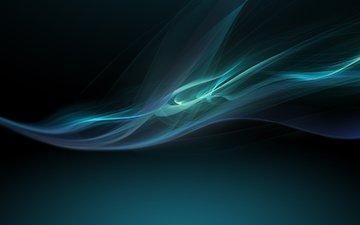 абстракция, голубой, креатив, сони, xperia