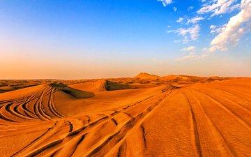 песок, пустыня, дубаи, сафари