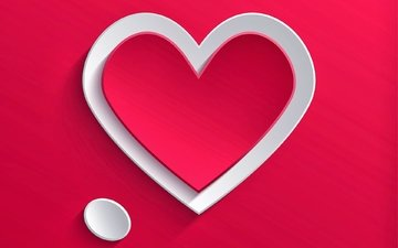 heart, love, the volume, hearts, red background, applique