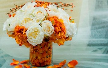 цветы, букет, ваза, букетик, цветочки, вазочка
