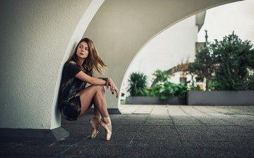 девушка, улица, балерина