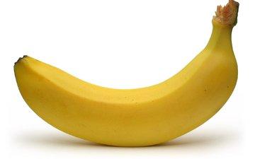 фрукты, плод, белый фон, банан