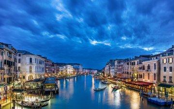 мост, венеция, канал, италия