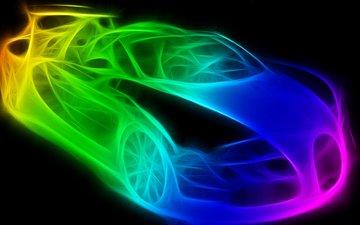свет, абстракция, фон, цвет