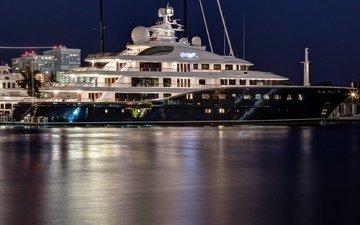 ночь, яхта