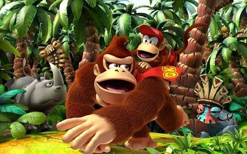 video game, donkey kong returns