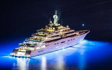 ночь, огни, яхты, вертолет, затмение, супер яхта, ноч, мега яхта, superyacht yacht, eclips, night helicopter, yacht helicopter, мега яхта мега яхта еклипс, вечер яхта, яхта.