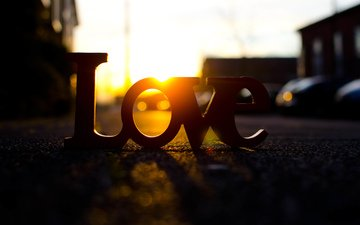 дорога, солнце, буквы, улица, любовь, настроения, влюбленная