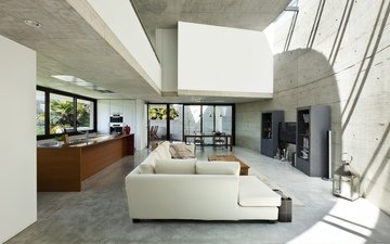 style, interior, design, white, grey, house, sofa