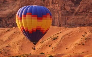 rocks, flight, balloon