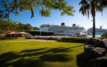 яхты, остров, карибского бассейна, сент-томас, yacht haven grande, восходящего солнца, мега яхты, giga яхт, круизных лайнеров