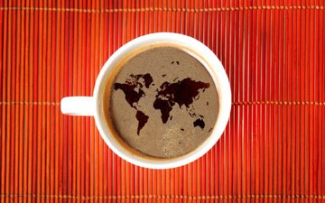 кофе, карта, кружка