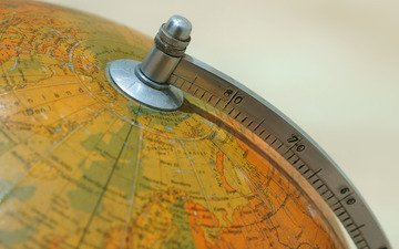 macro, background, globe