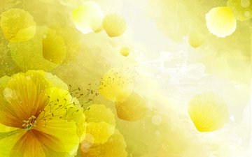 желтые, арт.цветы
